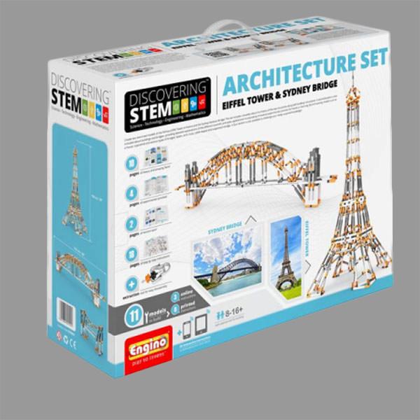 eng stem architecture set eiffel tower sydney harbour bridge