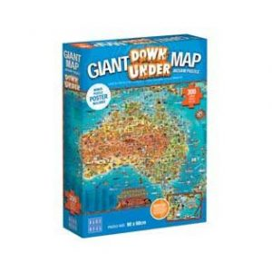 BOpal - Giant Maps Down Under Puzzle 300pc