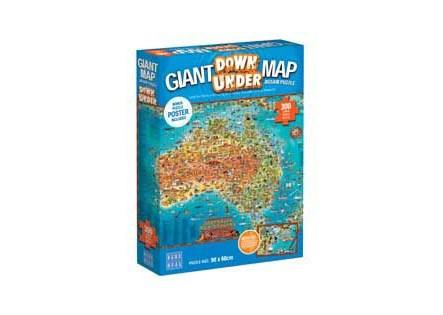 BOpal - Giant Maps Down Under Puzzle 300pc