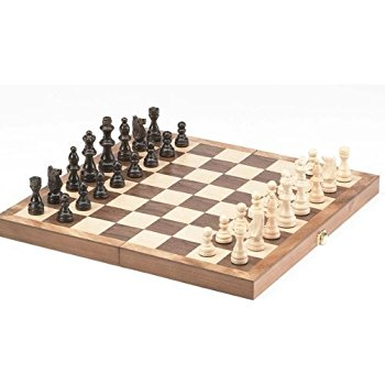 Chess board game wooden