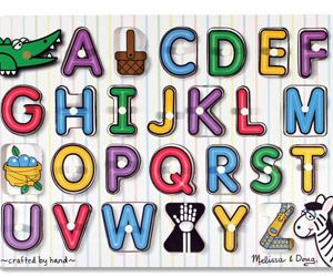 Melissa and Doug Alphabet Peg Puzzle