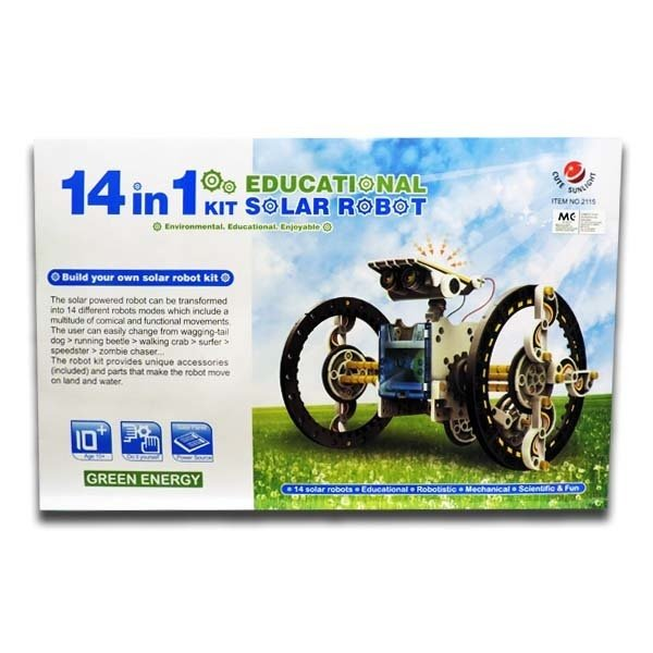 14 In 1 Solar Power Car Robot Kit