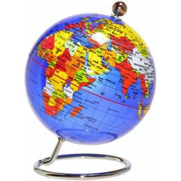 Blue Desk Globe – 20cm