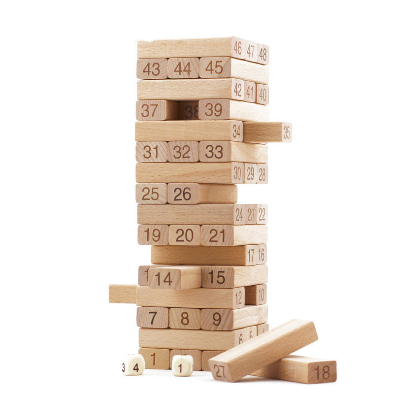 Jenga Wooden Tower Blocks Game Gorgeous Games With Wooden Blocks