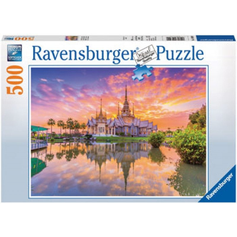 Ravensburger – Thai Temple Sunset Puzzle 500 Pc