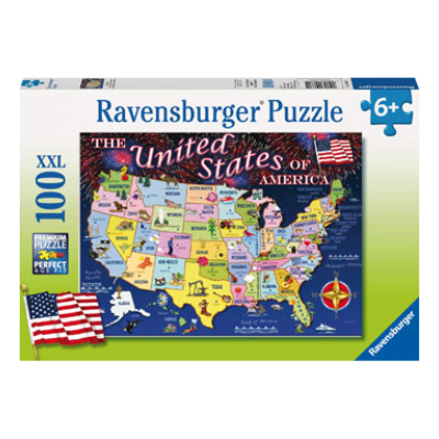 Ravensburger USA States Map 100 pieces