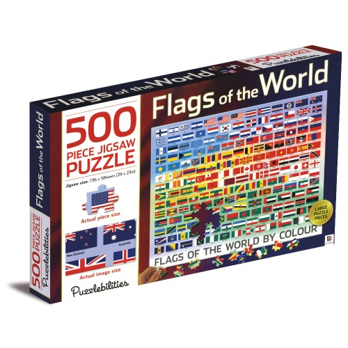 Flags of the world – 500 piece Jigsaw