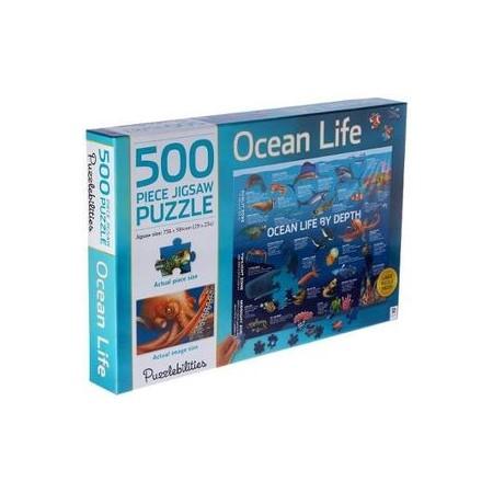 500 piece Ocean life by depth
