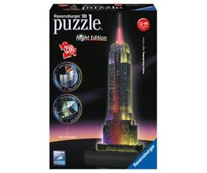 Ravensburger - Empire State at Night 3D Puzzle Building 216pc