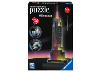 Ravensburger – Empire State at Night 3D Puzzle Building 216pc