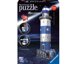 Ravensburger - Lighthouse at Night 3D Puzzle Building 216pc