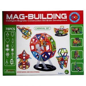 Magnetic Building Set - 78 Pieces