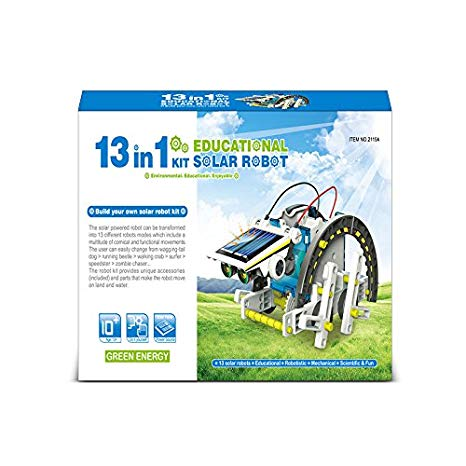 13 In 1 Solar Power Car Robot Kit