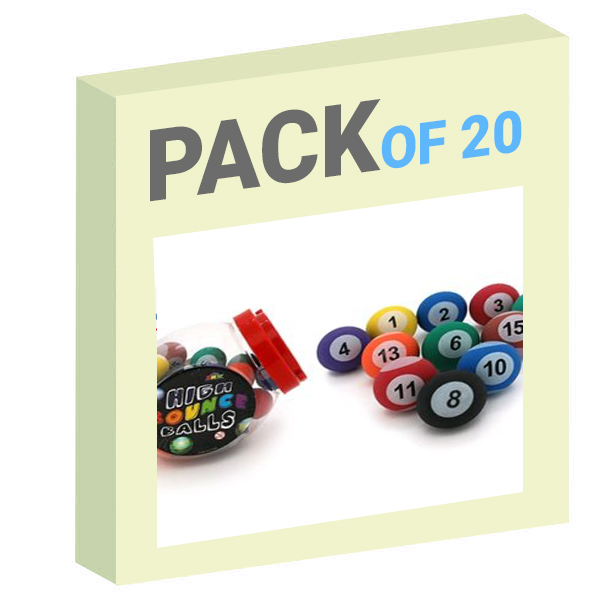 HI BOUNCE BALL – 45MM POOL BALL Pack of 20
