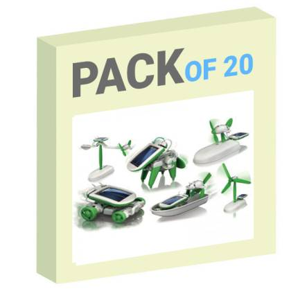 Diy 6 In 1 Educational Solar Toy / Robot Kit (With PP packaging) Pack of 20