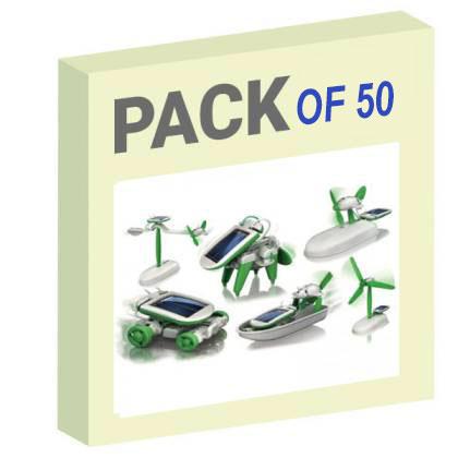 6 in 1 Solar Robotic kit (PP packaging) - Pack of 50