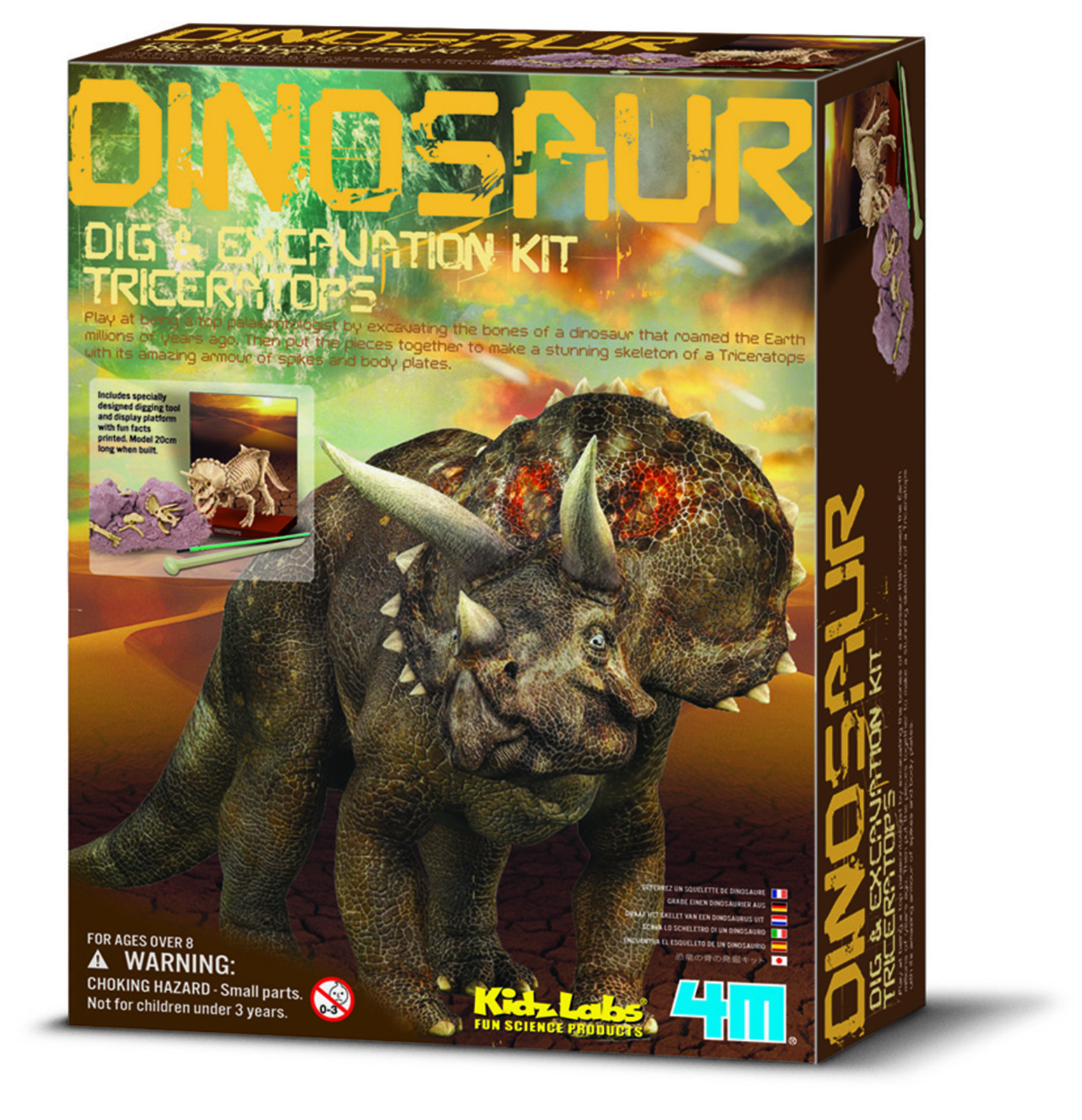 e4860675b 4M - Dig a Dinosaur - Triceratops - Switched on kids