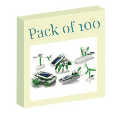 Diy 6 In 1 Educational Solar Toy / Robot Kit (With PP packaging) Pack of 100