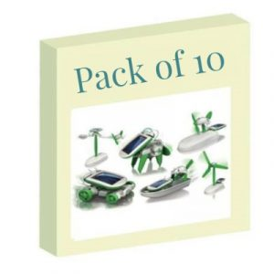 Diy 6 In 1 Educational Solar Toy / Robot Kit (With PP packaging) Pack of 10