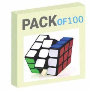 Speed Rubik's Cube Pack of 100