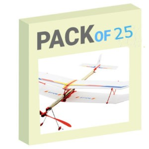 Rubber Band Plane - Pack of 25