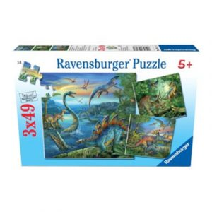 Ravensburger – Dinosaur Fascination Puzzle 3x49pc