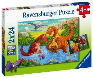 Ravensburger - Dinosaurs at play 2x24 pcs