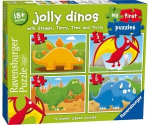 Ravensburger - Jolly Dinos My First Puzzle 2 3 4 5pc