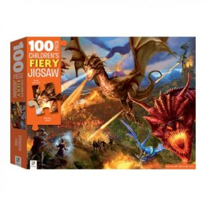 100 Piece Children's Jigsaw with Treatment – Dragon fire