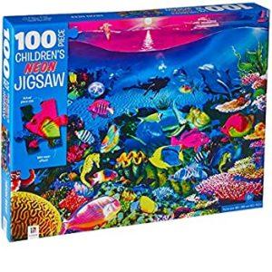 100 Piece Children's Jigsaw with Treatment - Neon Reef