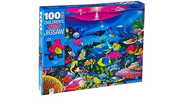 100 Piece Children's Jigsaw with Treatment - Neon Reef