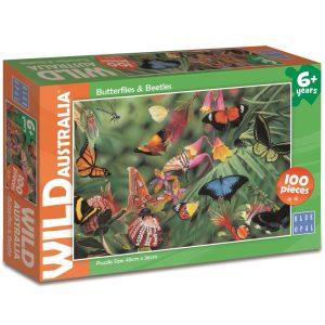 Blue Opal - Wild Australia Butterflies & Beetles 100 pieces