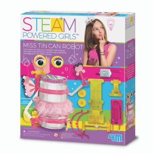 4M STEM Powered girls Miss Tin Can Robot