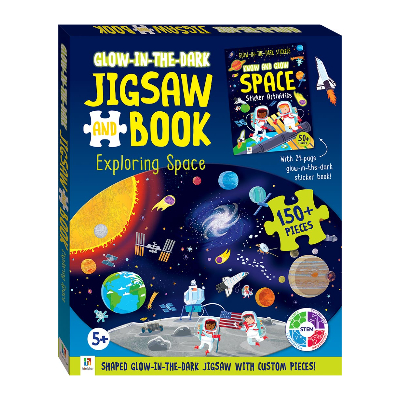 Glow in the Dark Jigsaw and Book Exploring Space