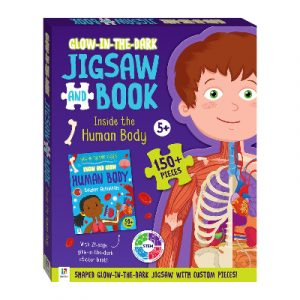 Glow in the Dark Jigsaw and Book : Inside the Human