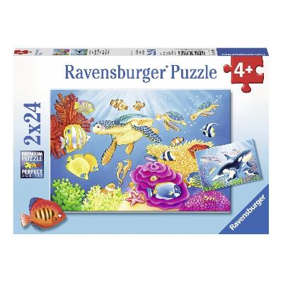 Ravensburger - Colourful Underwater World Puzzle 2x24pc