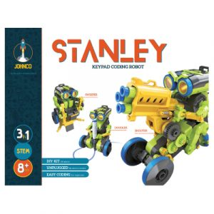Johnco - Stanley: 3-In-1 Keypad Coding Robot