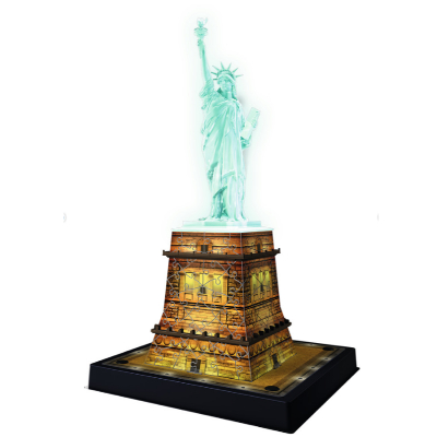 Ravensburger - Statue of Liberty at Night 3D Puzzle 216pc