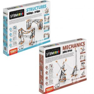 STEM Mechanics Multipack - Pulley Drives And Building and Structures Stem Construction Set