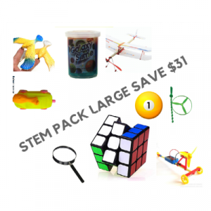 STEM pack large comprising 9 toys