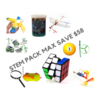 STEM pack Max comprising 10 toys