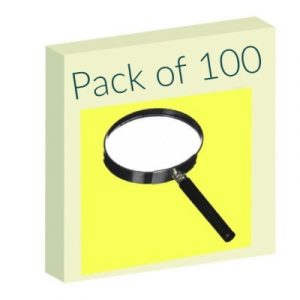 Magnifying lens – Pack of 100