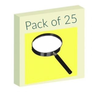 Magnifying lens – Pack of 25