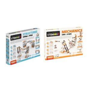 STEM Mechanics Multipack - Cams & Cranks And Stem Structures Stem Construction Buildings and Bridges Set